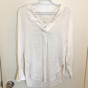 NWT H&M V-Neck Creamy White Blouses Shirt